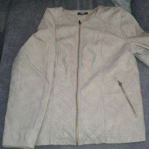 Leather taupe colored  jacket